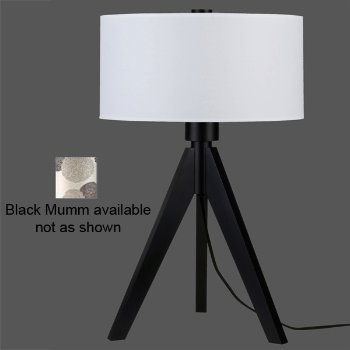 Woody Table Lamp (Black Mumm/Black Wood) - OPEN BOX RETURN