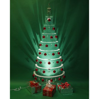 Modern Half Tree Pearl With Red Ornaments By Modern