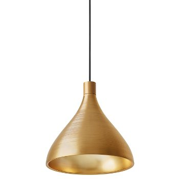 Swell Medium Brass Pendant