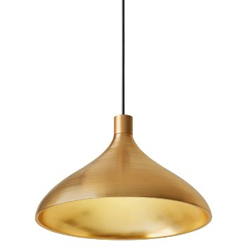 Swell Wide Brass Pendant