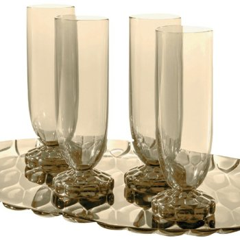 Jelly Champagne Flute Set of 4