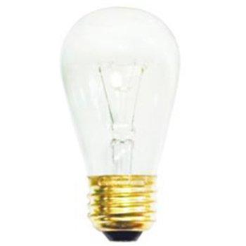 11W 130V S14 E26 Clear Bulb 6-Pack