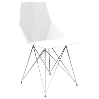 Faz Dining Chair with Steel Base Set of