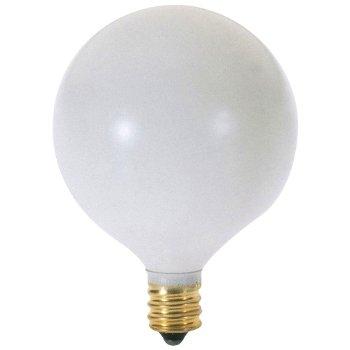 60W 120V G16 1/2 E12 Satin White Bulb