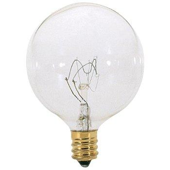 15W 120V G16 1/2 E12 Clear Bulb 6-Pack
