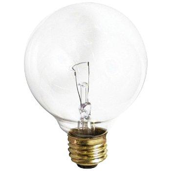 25W 120V G30 E26 Clear Bulb 3-Pack