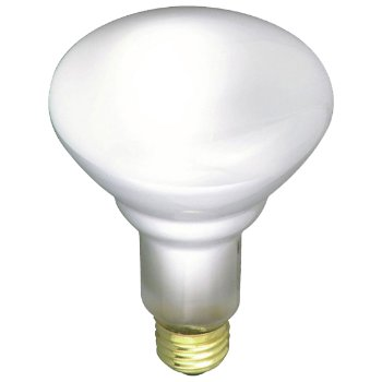 65W 120V BR30 E26 Frosted Reflector Bulb 3-Pack