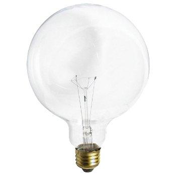 40W 120V G40 E26 Clear Bulb 2-Pack