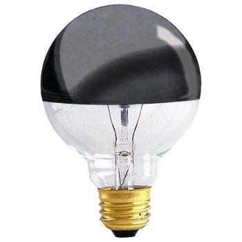 100W 120V G25 E26 Half Chrome Bulb 2-Pack