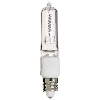 100W 120V T4 E11 Halogen Clear Bulb 2-Pack
