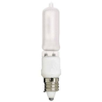 100W 120V T4 E11 Halogen Frosted Bulb 2-Pack