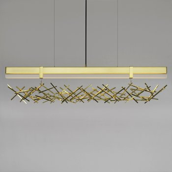 Level Criss Cross LED Linear Pendant
