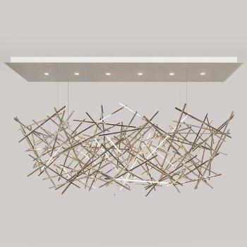 Criss Cross Linear Chandelier
