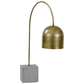Concrete Base Dome Task Lamp