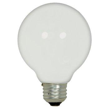 43W 120V G25 E26 Halogen Globe White Bulb