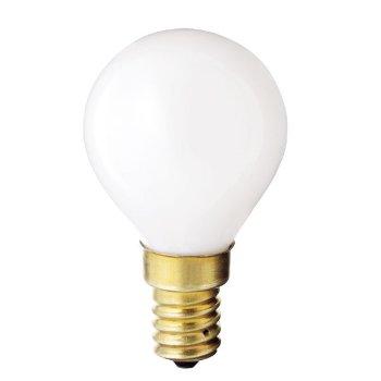 40W 120V G14 E14 White Globe Bulb