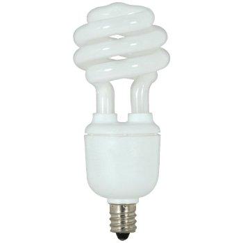 9W 120V T2 E12 Mini Spiral CFL Bulb
