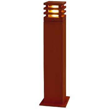 Rusty Square 70 Outdoor Bollard