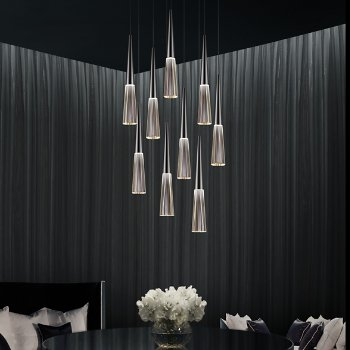 Spire LED Round Multi-Light Pendant