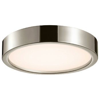 Puck Slim LED Flushmount (Satin Nickel/Large) - OPEN BOX