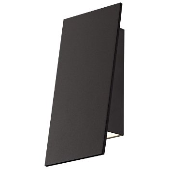 Angled Plane Narrow Outdoor Wall Sconce (Bronze) - OPEN BOX