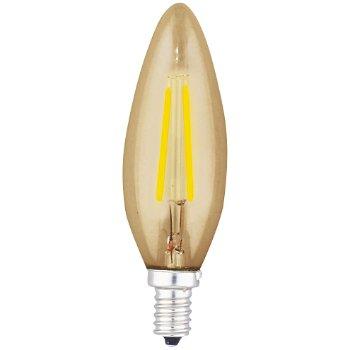 4W 120V C10 E12 LED Torpedo Chandelier Amber