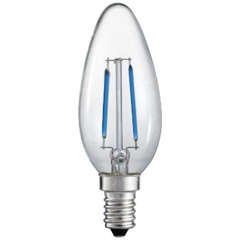 2W 120V C10 E12 Blue LED Filament Clear