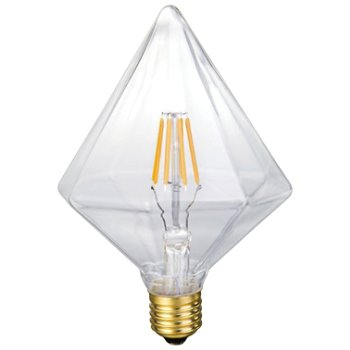 6W 120V E26 Pyramid LED Filament Clear Bulb