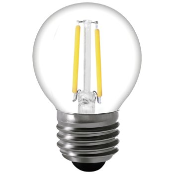 4W 120V E26 G16 1/2 LED Filament Clear