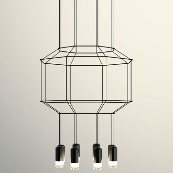 Wireflow 3-D LED Octagonal Pendant