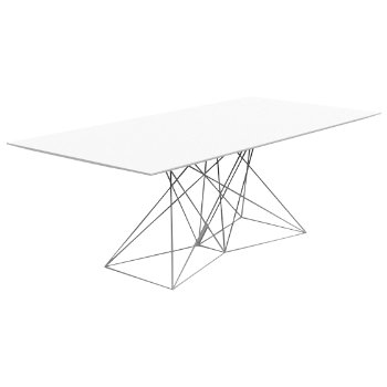 Faz Dining Table with Steel Base