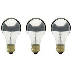 100W 130V A19 E26 Silver Crown Bulb (Pack of 3)