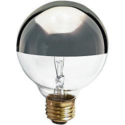 25W 120V G25 E26 Silver Crown Bulb