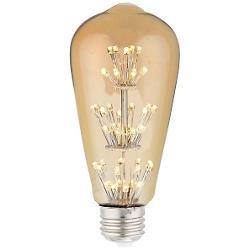 3W 120V E26 ST64 Star LED Amber Bulb