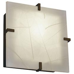 3form Clips 12 Inch Square Ceiling/Wall Light