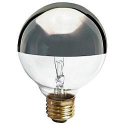 40W 120V G25 E26 Silver Crown Bulb 3-Pack