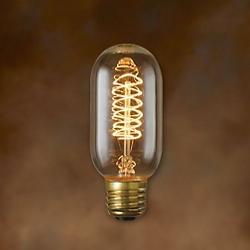 40W 120V T14 E26 Antique Spiral Edison Bulb 2-Pack