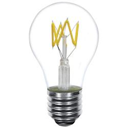 4W 120V A19 E26 Zig Zag LED Filament Clear Bulb
