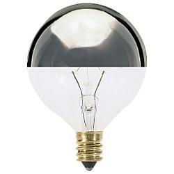 60W 120V G16 1/2 E12 Silver Crown Bulb 6-Pack