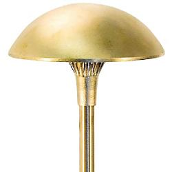 8 Inch Brass Panel LED Mushroom Area Light