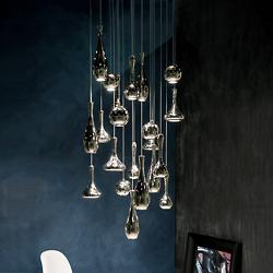 Acid LED Multi Light Large Pendant