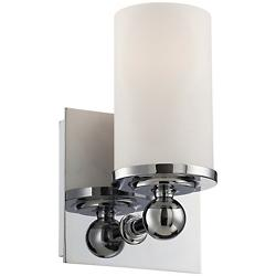 Adam Wall Sconce (White Opal/Chrome) - OPEN BOX RETURN