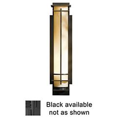After Hours Outdoor Wall Sconce (Stone/Black/Lg) - OPEN BOX