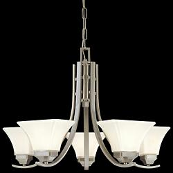 Agilis 5-Light Chandelier (Brushed Nickel) - OPEN BOX RETURN