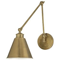 Aidan Swing Arm Wall Sconce (Aged Brass) - OPEN BOX RETURN