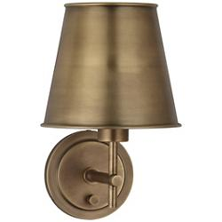 Aiden Wall Sconce (Aged Brass/1 Light) - OPEN BOX RETURN