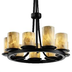 Alabaster Rocks! 9 Light Ring Chandelier