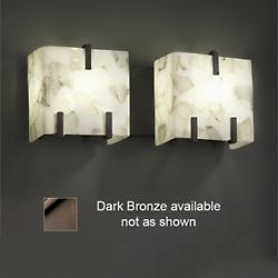 Alabaster Rocks! Clips Bath Bar (Bronze/2 Lights) - OPEN BOX