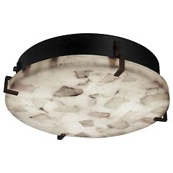 Alabaster Rocks! Clips Round Ceiling/Wall Light