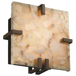 Alabaster Rocks! Clips Square Wall Sconce